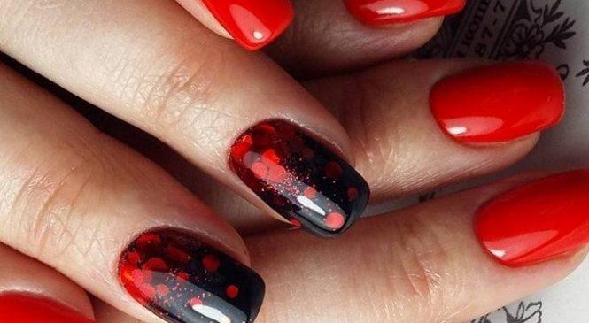 Маникюр с красным ногтями – изящно и стильно