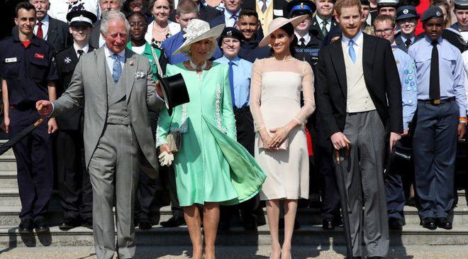 Первый выход принца Гарри и Меган Маркл после свадьбы