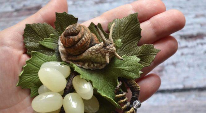Плетем из бисера виноградную улитку