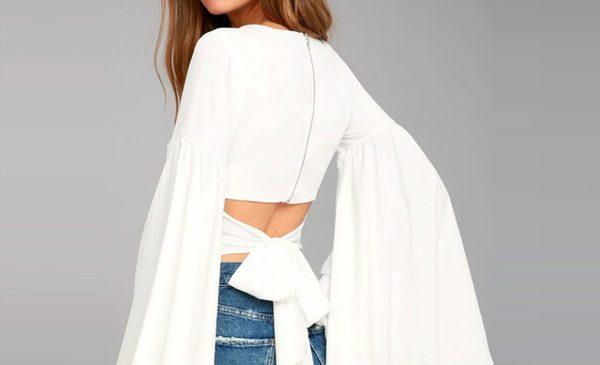 Модная одежда с V-образным вырезом